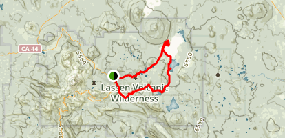 Summit, Horshoe, Snag, Cinder Cone, Rainbow, Twin, and Echo Lakes loop Map