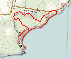 Poin Addis and Bells Beach Loop Trail Map