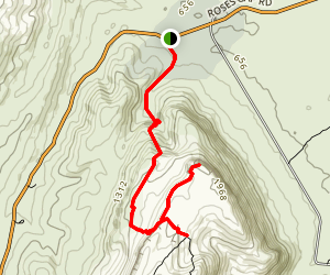 Briggs Bluff and Beehive Falls Trail Map