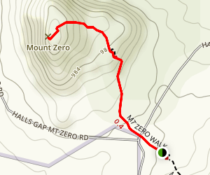 Mount Zero Trail Map