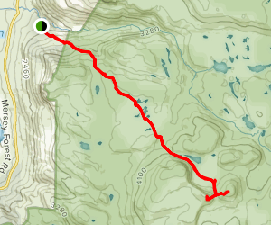 Mount Jerusalem Trail to The Temple and Solomon's Throne (Hells Buttress) Map