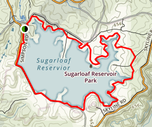 Sugarloaf Reservoir Loop Map