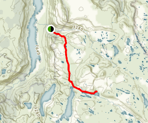 Lake Junction Trail to Lake Bail Map