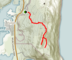 Mount Farrell and Lake Herbert Trail Map