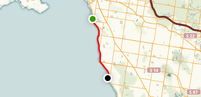 Bay Trail from Elwood to Sandringham Map