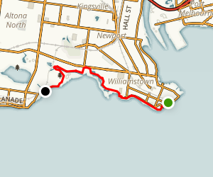 Williamstown to Altona via Hobsons Bay Coastal Trail Map
