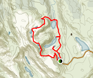 Lake Webster Tarn Shelf Loop Trail Map