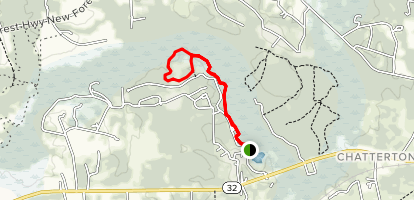 West River Swamp to Gopher Loop Trail  Map
