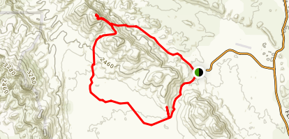 Wilpena Pound to Saint Mary Peak Loop Map
