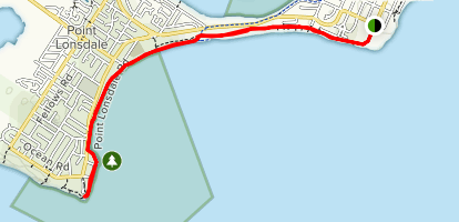 Queenscliff Lighthouse to Point Lonsdale Lighthouse Map