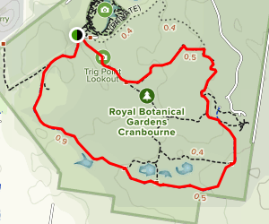 Royal Botanical Gardens Cranbourne Map