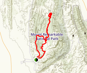 Mount Remarkable National Park Gorges Loop Map