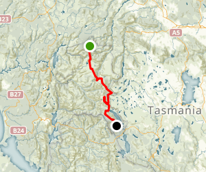 The Overland Track Map