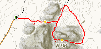 Kata Tjuta Trail to Karingana Lookout Map