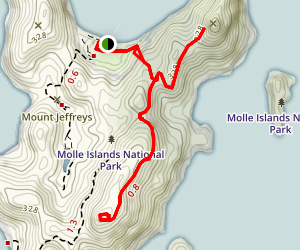 Spion Kop and Mount Jefferys Trail Map