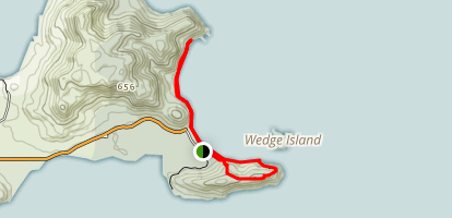 Wedge Island Lookout and Beachcombers Cove Trail Map