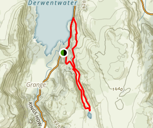 Derwentwater to Watendath Torn Loop Map