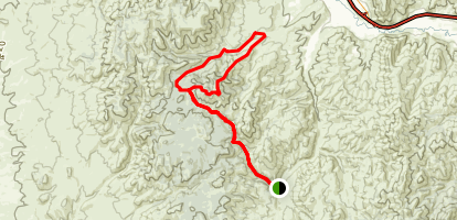West Fork Mink Creek to Gibson Mountain Map