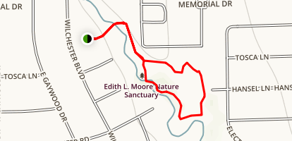 Edith L. Moore Nature Sanctuary Map