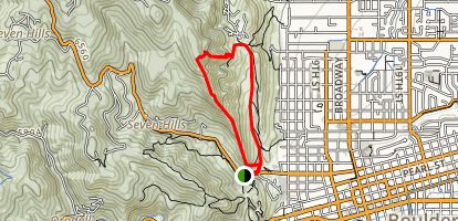 Mount Sanitas and Sanitas Valley Loop Trail Map