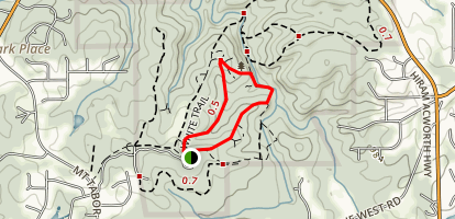 Red White and Blue Trail Loop Map
