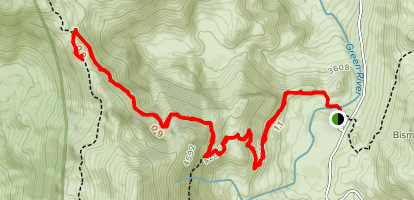 Norway Pass and Mount Margaret Via Boundary Trail Map