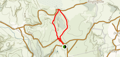 Carl Wark and Higger Tor Loop Map