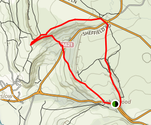Birchen Edge Trail Map