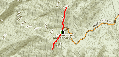 Dante S View Trail Map