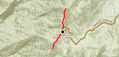 Dante's View Trail Map