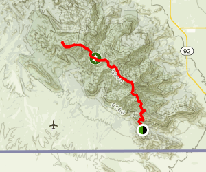 Crest Trail Number One Hundred Three Map