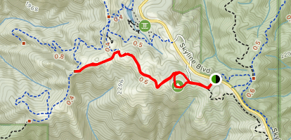 Hickory Oak Ridge Trail Loop Map