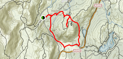 Holme Fell Loop Map