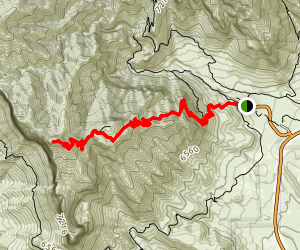 Guadalupe Peak Texas Highpoint Trail Map
