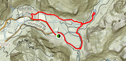 East Valley Floor Trail Map