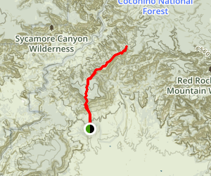 Casner Mountain Trail Eight Map