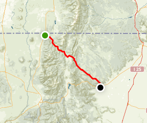 Valle Vidal: Costilla to Cimarron Map