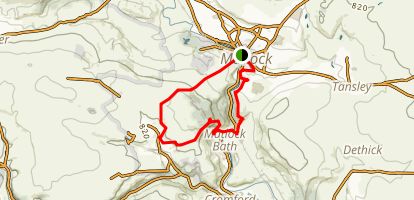 High Tor and the Heights of Abraham Loop Map
