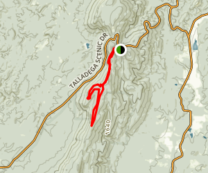 Hernandez Peak and McDill Point Loop Trail Map