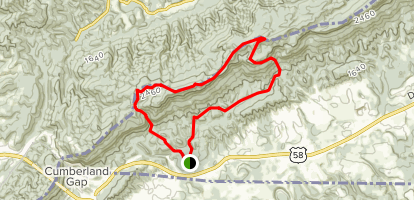 Gibson Gap Trail Map