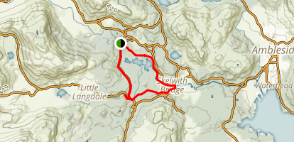 Elterwater Lake Loop Map