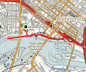 Richmond Riverfront Phase Trail Map