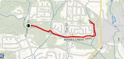Reeves Creek Trail Map