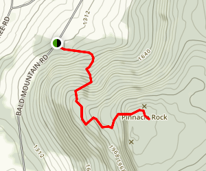 Pinnacle Trail [PRIVATE PROPERTY] Map