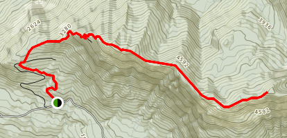 Elk - Thurston Mountain Trail Map