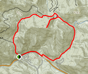 Dog Lake Reynold's Peak and Butler Fork Loop Trail Map