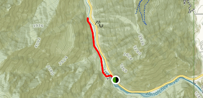 Old Pipeline Bed Trail Map