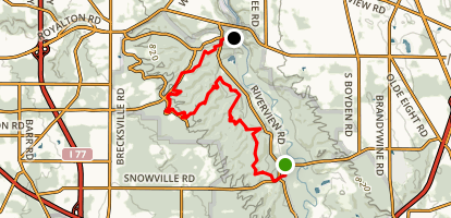 Buckeye Trail - Jaite to Brecksville Station Map