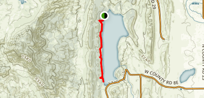 Carter Lake Reservoir - Sundance Trail Map
