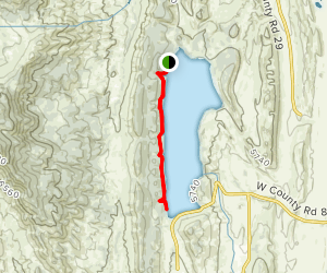 Carter Lake Reservoir   Sundance Trail Map